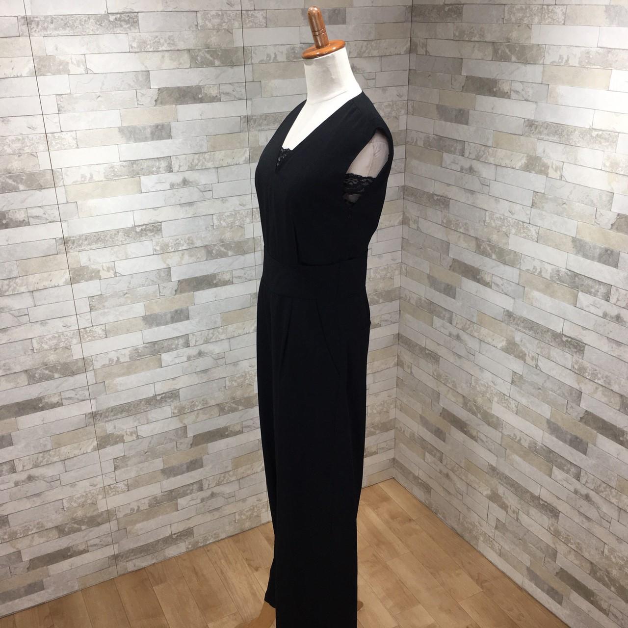 韓国 ファッション オールインワン サロペット 春 夏 パーティー ブライダル PTX1552  ノースリーブ バックスリット ハイウエスト ワイドパンツ 二次会 セレブ きれいめの写真12枚目