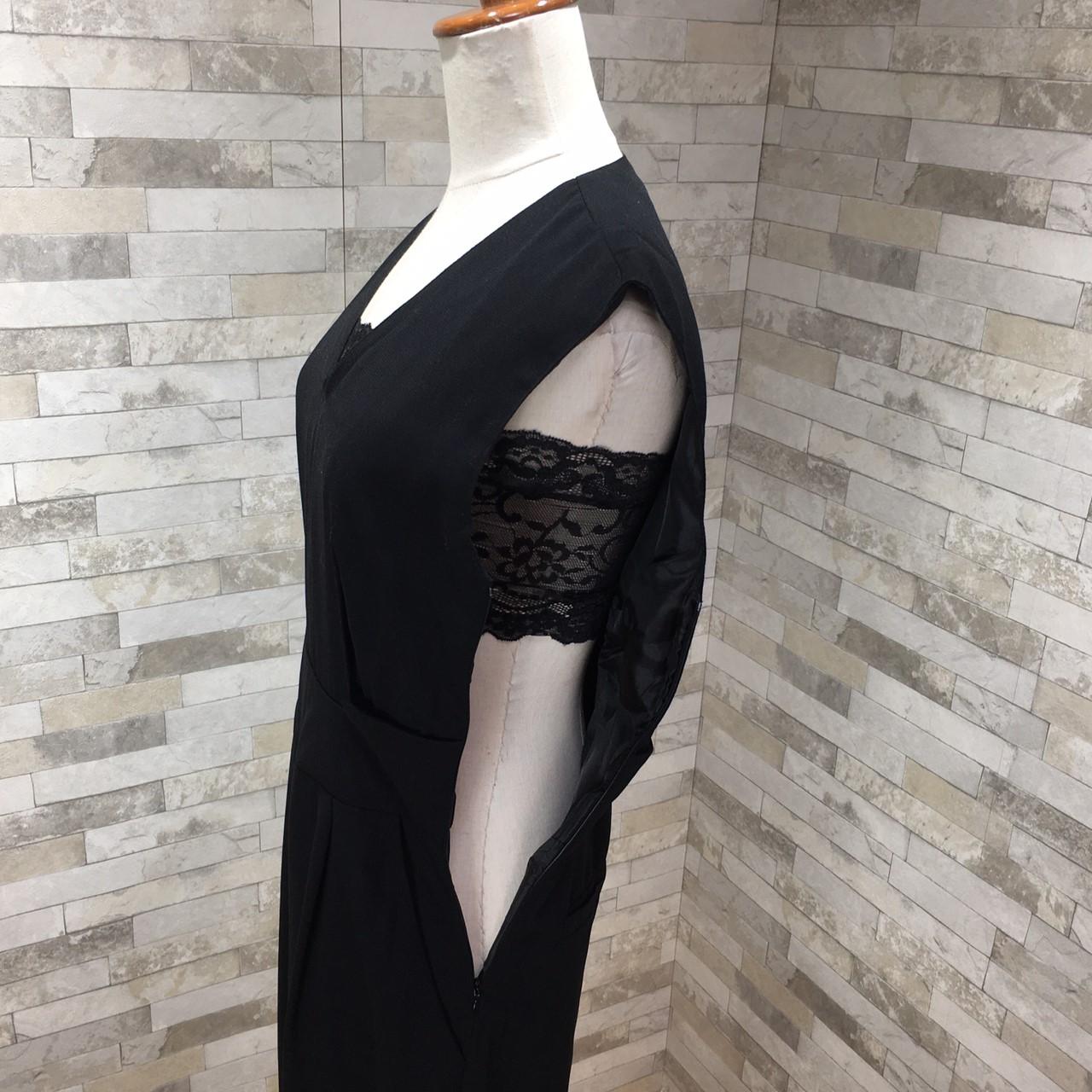 韓国 ファッション オールインワン サロペット 春 夏 パーティー ブライダル PTX1552  ノースリーブ バックスリット ハイウエスト ワイドパンツ 二次会 セレブ きれいめの写真13枚目