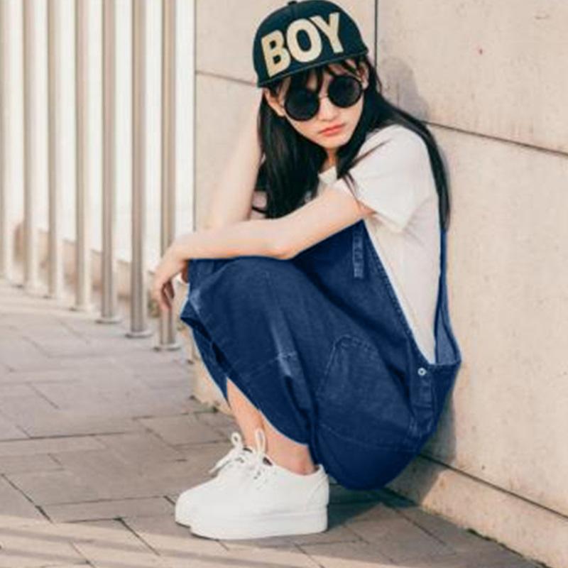 韓国 ファッション オールインワン オーバーオール 春 夏 カジュアル PTX2979  ガウチョパンツ ミモレ丈 デニム 系 ボーイッシュ オルチャン シンプル 定番 セレカジの写真5枚目