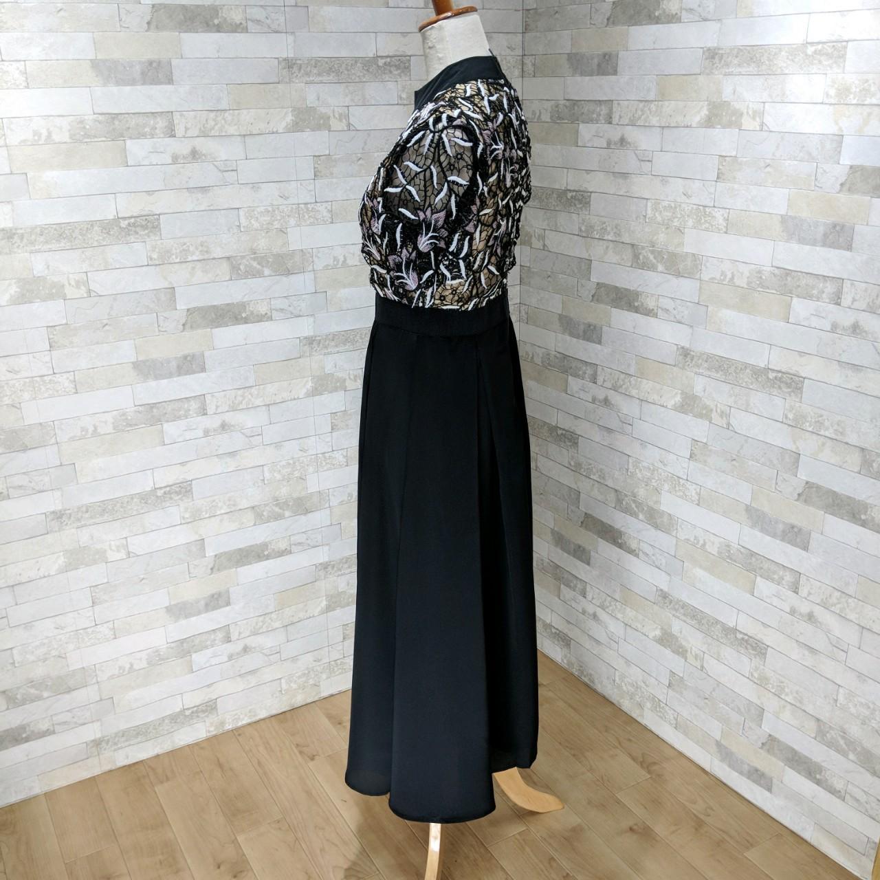 【即納】韓国 ファッション ワンピース パーティードレス ロング マキシ 夏 春 秋 パーティー ブライダル SPTX5151 結婚式 お呼ばれ ドッキング 花柄レース ロン 二次会 セレブ きれいめの写真14枚目