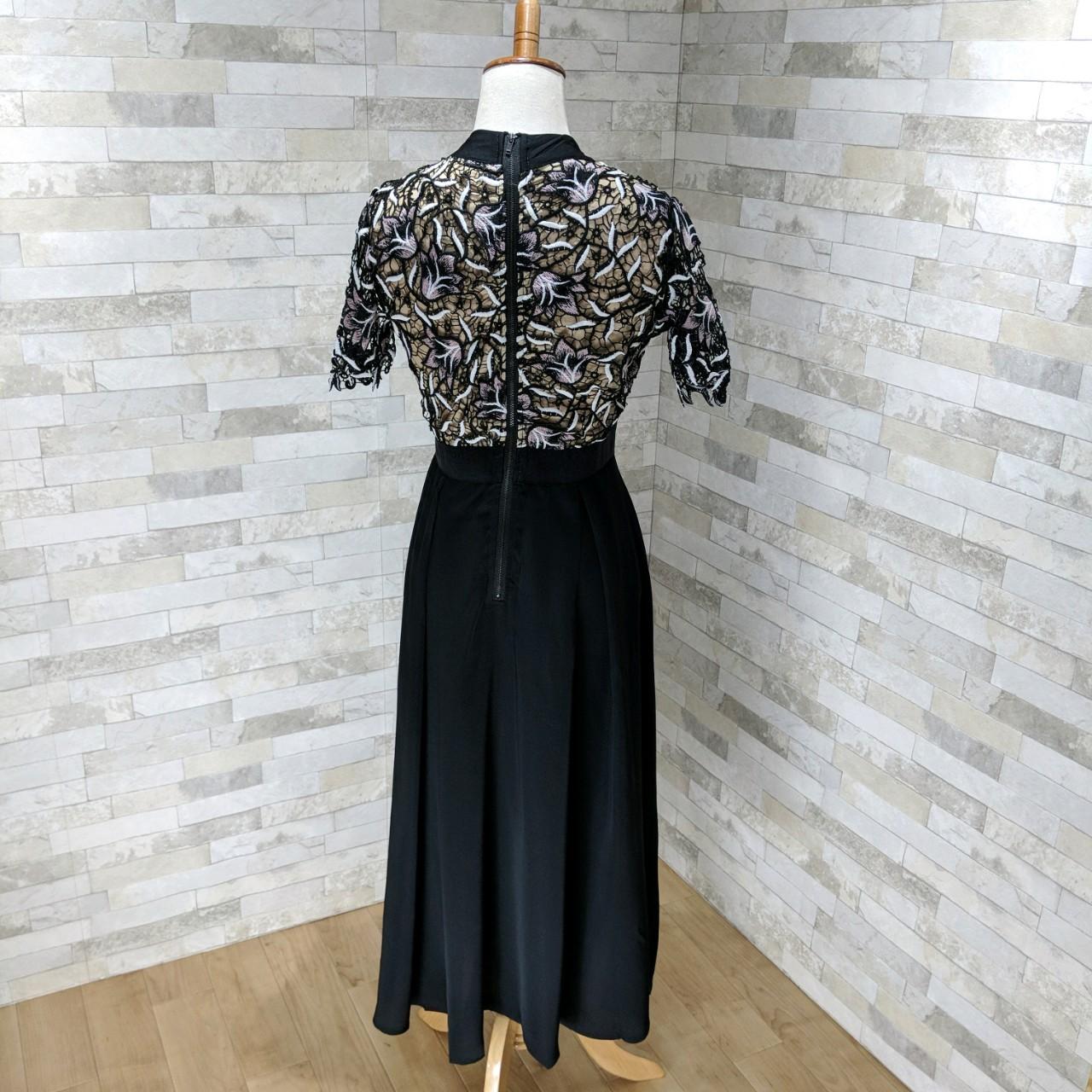 【即納】韓国 ファッション ワンピース パーティードレス ロング マキシ 夏 春 秋 パーティー ブライダル SPTX5151 結婚式 お呼ばれ ドッキング 花柄レース ロン 二次会 セレブ きれいめの写真15枚目