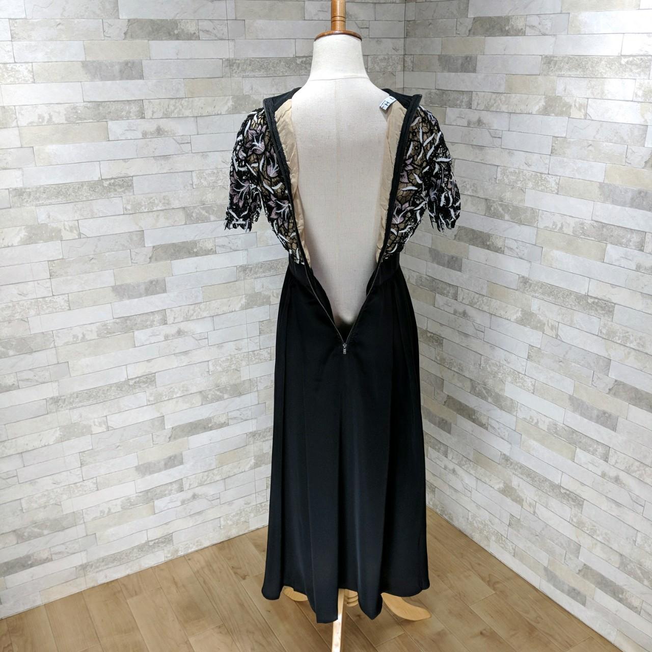 【即納】韓国 ファッション ワンピース パーティードレス ロング マキシ 夏 春 秋 パーティー ブライダル SPTX5151 結婚式 お呼ばれ ドッキング 花柄レース ロン 二次会 セレブ きれいめの写真16枚目