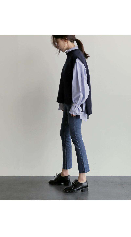 【即納】韓国 ファッション トップス ニット セーター 秋冬春 カジュアル SPTX5258  コーデに可愛げを呼ぶ。リボンディテールのニットベスト オルチャン シンプル 定番 セレカジの写真6枚目