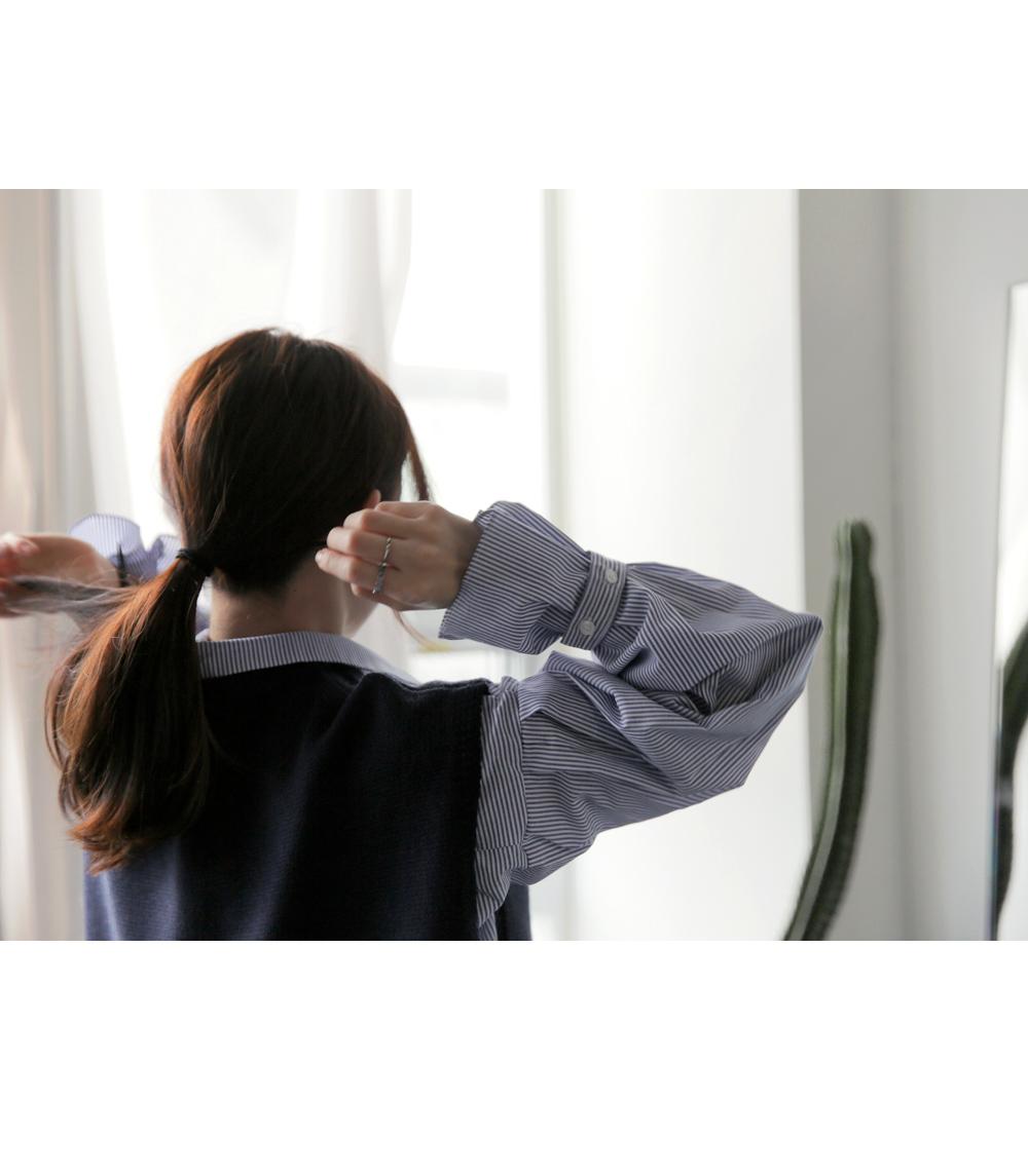 【即納】韓国 ファッション トップス ニット セーター 秋冬春 カジュアル SPTX5258  コーデに可愛げを呼ぶ。リボンディテールのニットベスト オルチャン シンプル 定番 セレカジの写真8枚目