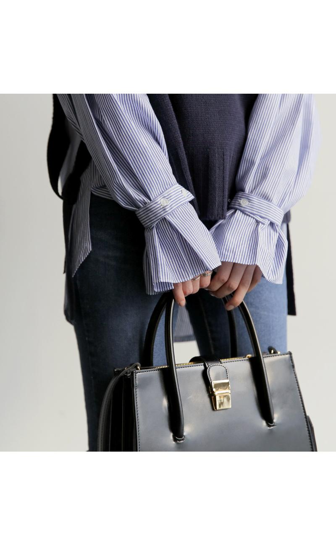 【即納】韓国 ファッション トップス ニット セーター 秋冬春 カジュアル SPTX5258  コーデに可愛げを呼ぶ。リボンディテールのニットベスト オルチャン シンプル 定番 セレカジの写真15枚目