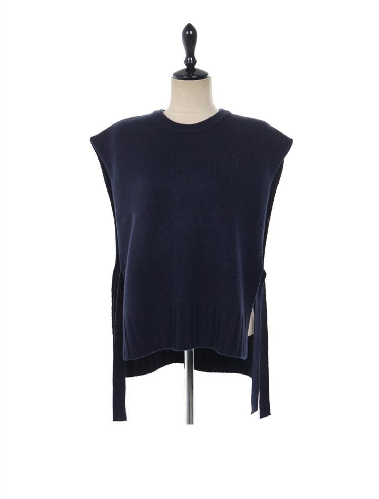 【即納】韓国 ファッション トップス ニット セーター 秋冬春 カジュアル SPTX5258  コーデに可愛げを呼ぶ。リボンディテールのニットベスト オルチャン シンプル 定番 セレカジの写真19枚目