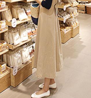 【即納】韓国 ファッション ワンピース 春 夏 秋 カジュアル SPTX5312  サロペットワンピ バックリボン ミモレ丈 ロング オルチャン シンプル 定番 セレカジの写真8枚目