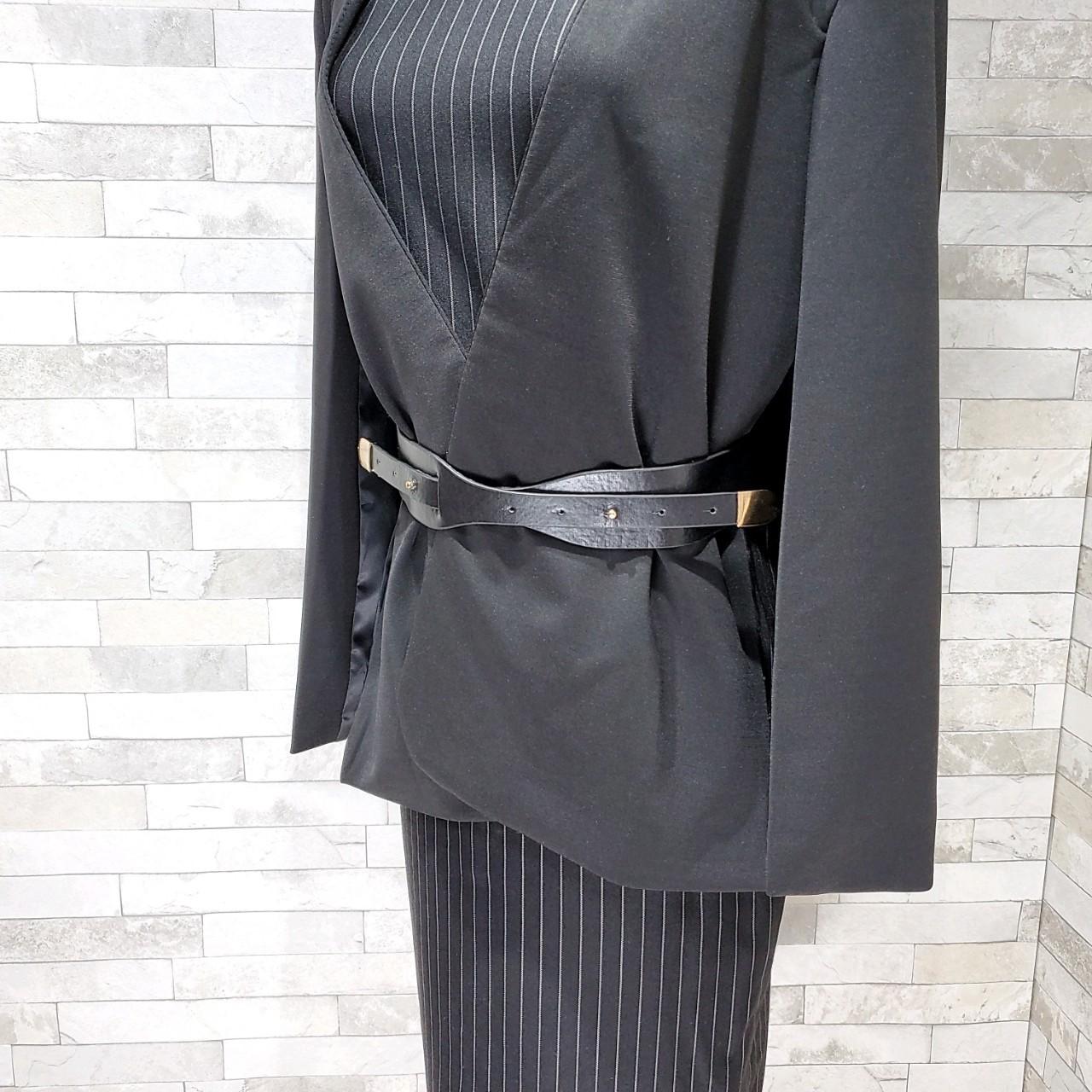 【即納】韓国 ファッション ワンピース パーティードレス ひざ丈 ミディアム 春 秋 冬 パーティー ブライダル SPTX5574 結婚式 お呼ばれ セット ポンチョ マント 二次会 セレブ きれいめの写真16枚目