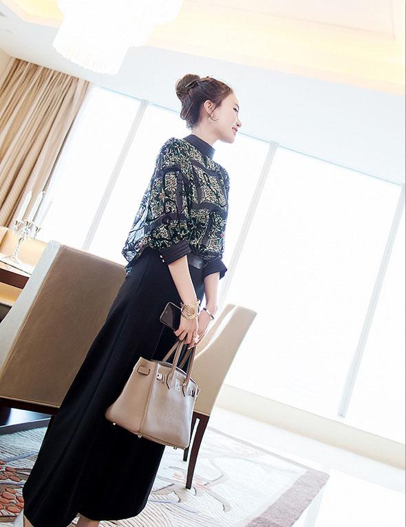 【即納】韓国 ファッション パンツ セットアップ パーティードレス 結婚式 お呼ばれドレス 秋 夏 春 パーティー ブライダル SPTX7230  エレガント シースルー ロ 二次会 セレブ きれいめの写真3枚目