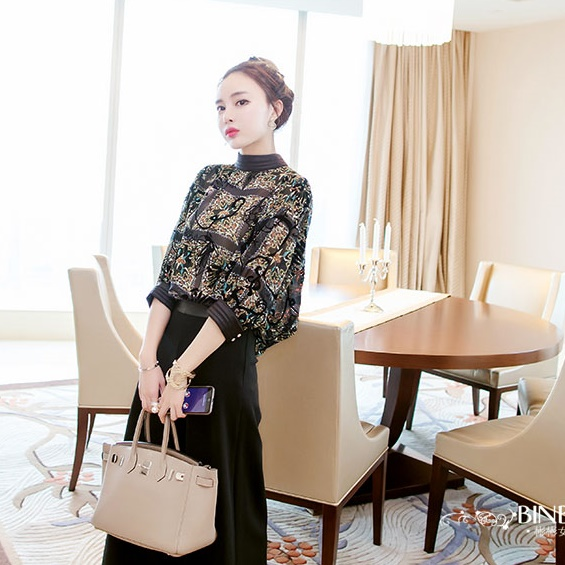 【即納】韓国 ファッション パンツ セットアップ パーティードレス 結婚式 お呼ばれドレス 秋 夏 春 パーティー ブライダル SPTX7230  エレガント シースルー ロ 二次会 セレブ きれいめの写真4枚目