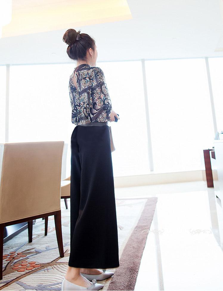 【即納】韓国 ファッション パンツ セットアップ パーティードレス 結婚式 お呼ばれドレス 秋 夏 春 パーティー ブライダル SPTX7230  エレガント シースルー ロ 二次会 セレブ きれいめの写真5枚目