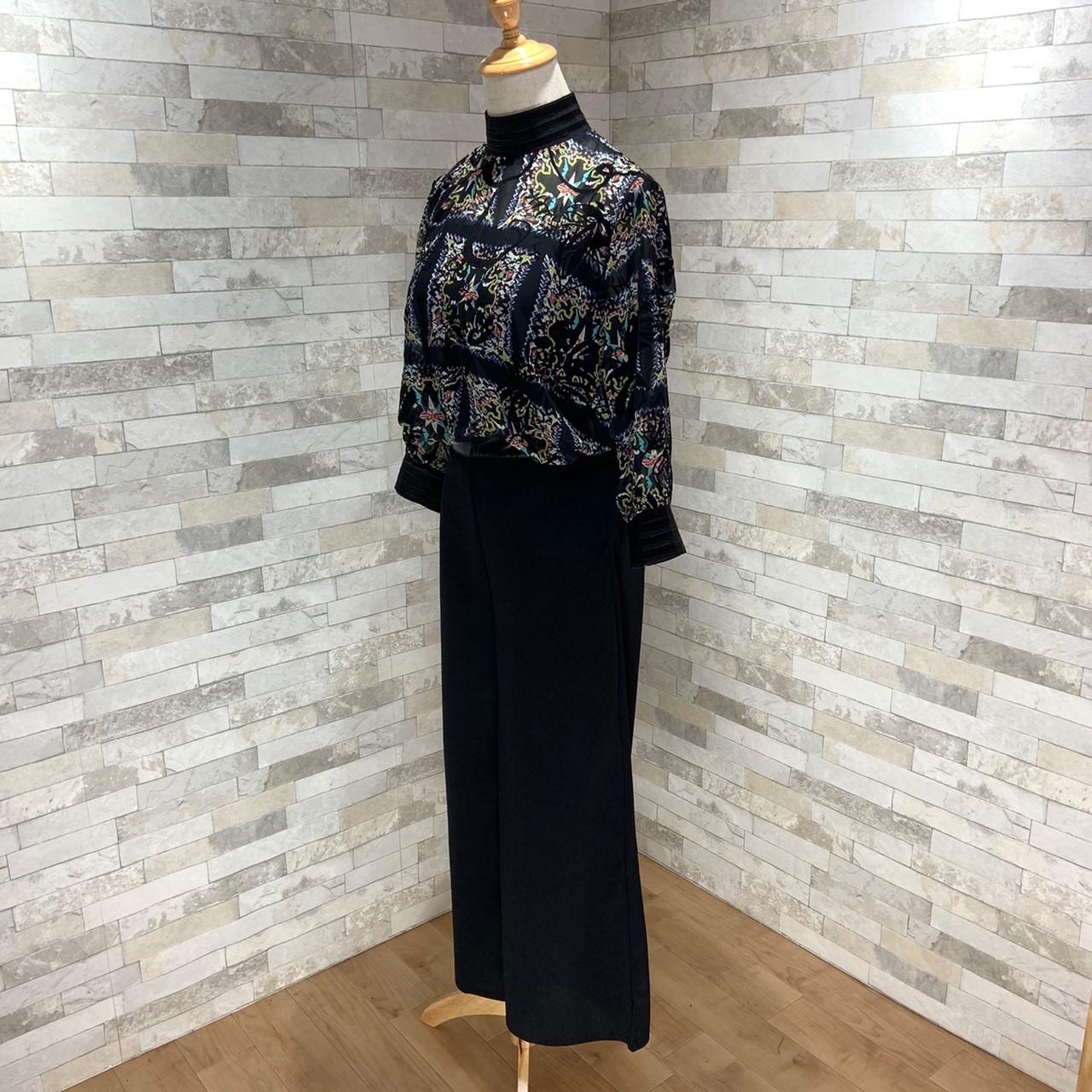 【即納】韓国 ファッション パンツ セットアップ パーティードレス 結婚式 お呼ばれドレス 秋 夏 春 パーティー ブライダル SPTX7230  エレガント シースルー ロ 二次会 セレブ きれいめの写真7枚目