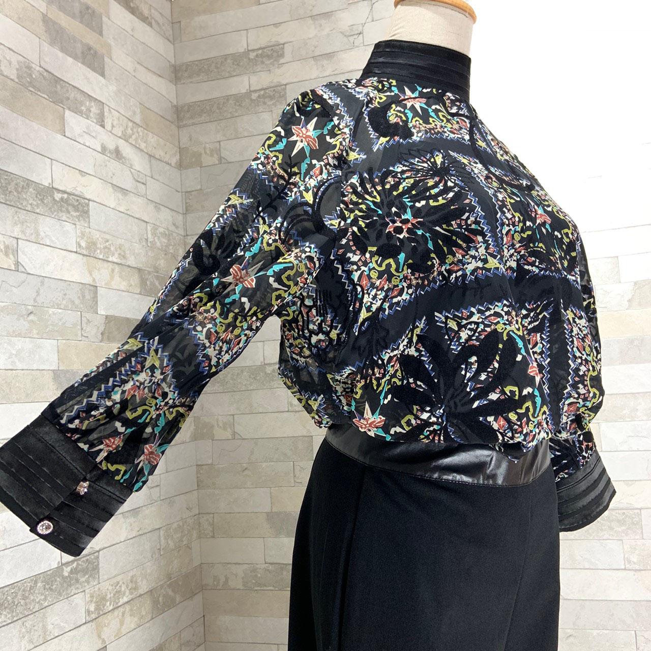 【即納】韓国 ファッション パンツ セットアップ パーティードレス 結婚式 お呼ばれドレス 秋 夏 春 パーティー ブライダル SPTX7230  エレガント シースルー ロ 二次会 セレブ きれいめの写真9枚目