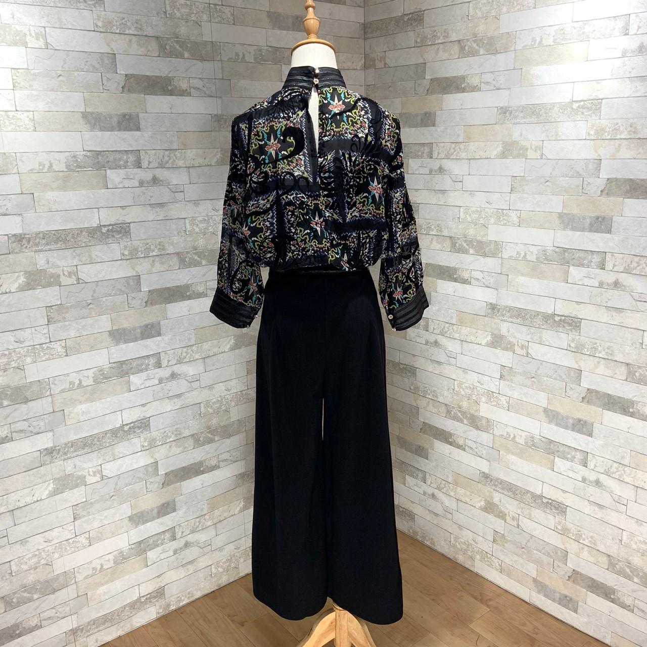 【即納】韓国 ファッション パンツ セットアップ パーティードレス 結婚式 お呼ばれドレス 秋 夏 春 パーティー ブライダル SPTX7230  エレガント シースルー ロ 二次会 セレブ きれいめの写真19枚目
