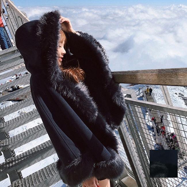 【即納】韓国 ファッション アウター ムートン ファーコート 秋 冬 カジュアル SPTX8010  Aライン ビッグファー エコファー もこもこ ショート オルチャン シンプル 定番 セレカジの写真1枚目