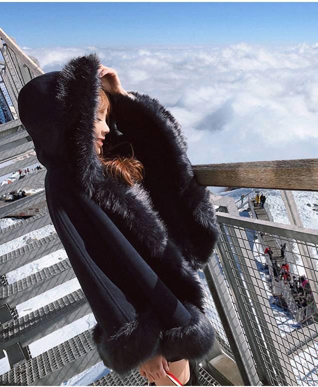 【即納】韓国 ファッション アウター ムートン ファーコート 秋 冬 カジュアル SPTX8010  Aライン ビッグファー エコファー もこもこ ショート オルチャン シンプル 定番 セレカジの写真7枚目