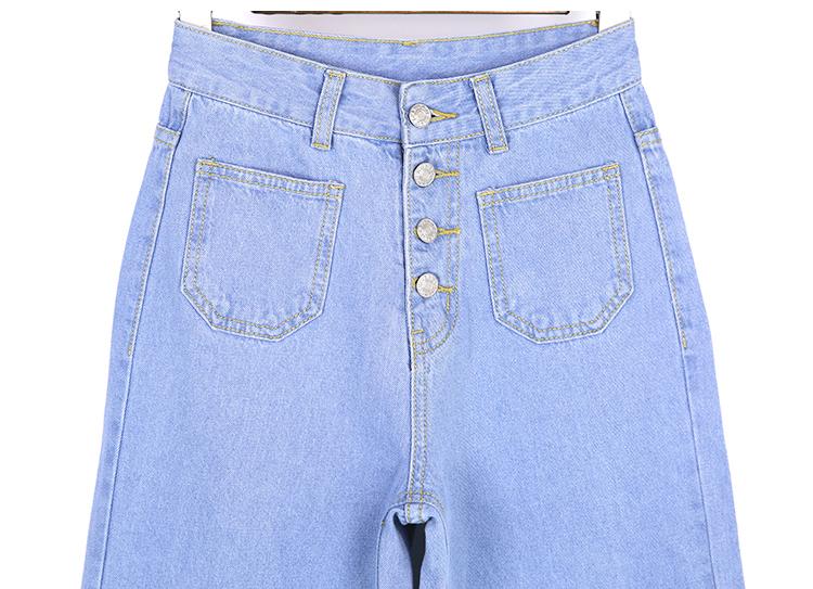 韓国 ファッション パンツ デニム ジーパン ボトムス 夏 春 カジュアル PTX8534  ハイライズ カットオフ ワイド ストレート クロップド アンクルパン オルチャン シンプル 定番 セレカジの写真18枚目