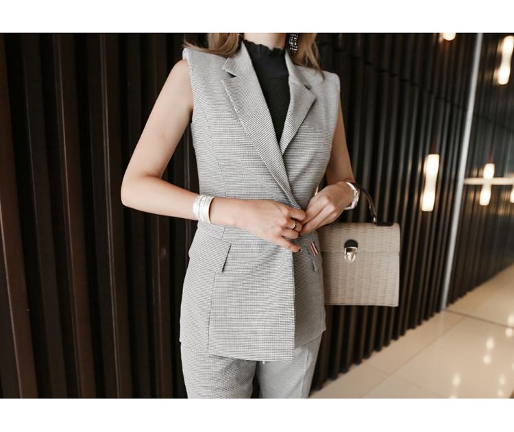 【即納】韓国 ファッション パンツ セットアップ パーティードレス 結婚式 お呼ばれドレス 春 夏 パーティー ブライダル SPTX9206  ノースリーブジャケット テーパ 二次会 セレブ きれいめの写真6枚目