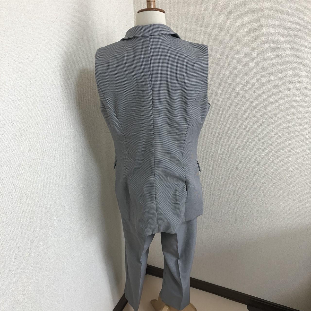 【即納】韓国 ファッション パンツ セットアップ パーティードレス 結婚式 お呼ばれドレス 春 夏 パーティー ブライダル SPTX9206  ノースリーブジャケット テーパ 二次会 セレブ きれいめの写真13枚目