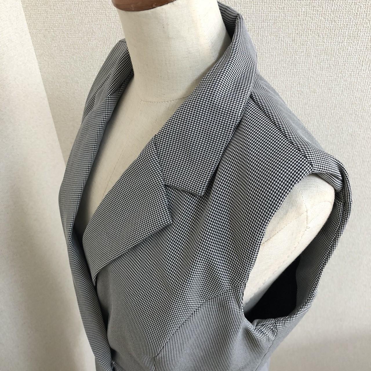【即納】韓国 ファッション パンツ セットアップ パーティードレス 結婚式 お呼ばれドレス 春 夏 パーティー ブライダル SPTX9206  ノースリーブジャケット テーパ 二次会 セレブ きれいめの写真18枚目