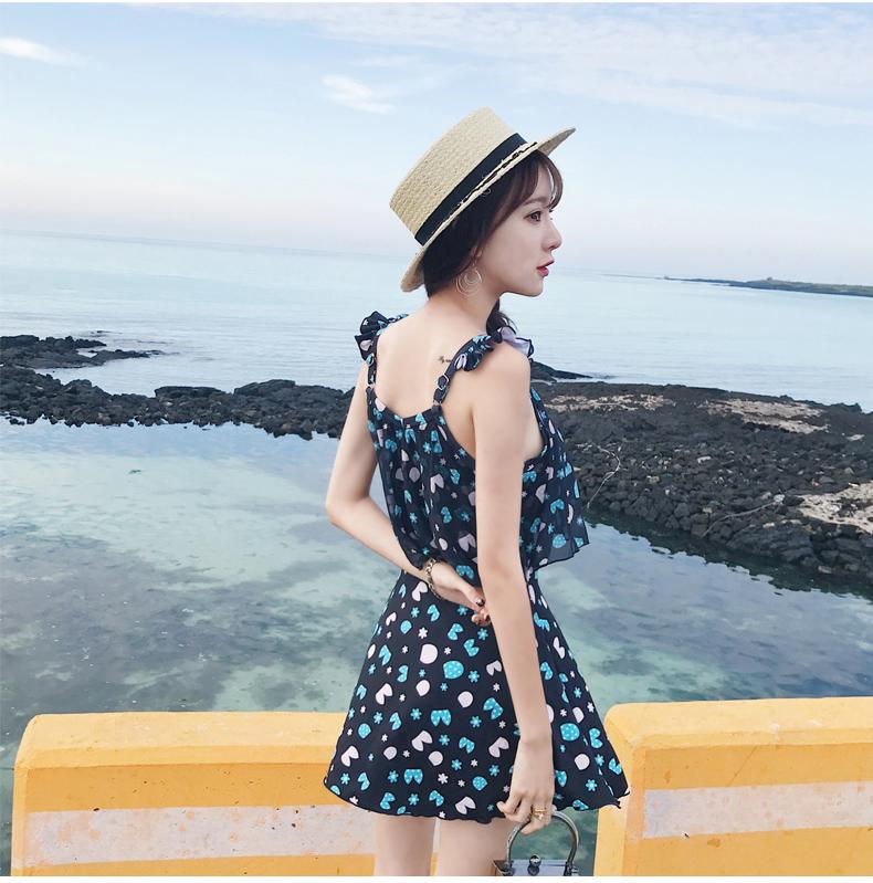 「ビタミンカラーの花柄ワンピース」露出控えめで◎ 夏 春 PTX9664の写真18枚目