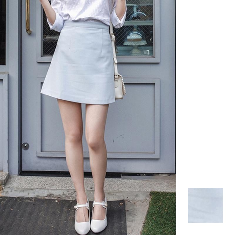 韓国 ファッション スカート ミニ ボトムス 夏 春 カジュアル PTXA271  台形スカート セミフレアスカート ストリート ベーシック オルチャン シンプル 定番 セレカジの写真1枚目