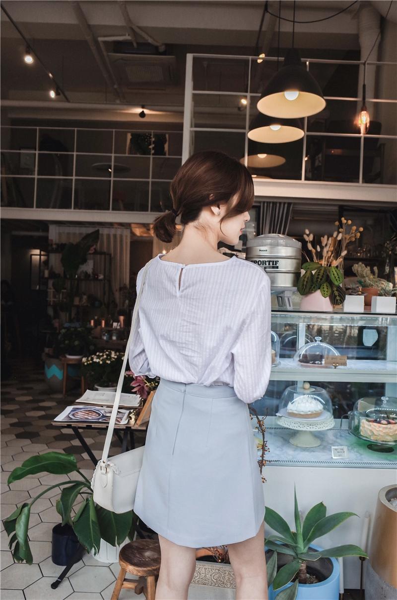 韓国 ファッション スカート ミニ ボトムス 夏 春 カジュアル PTXA271  台形スカート セミフレアスカート ストリート ベーシック オルチャン シンプル 定番 セレカジの写真20枚目