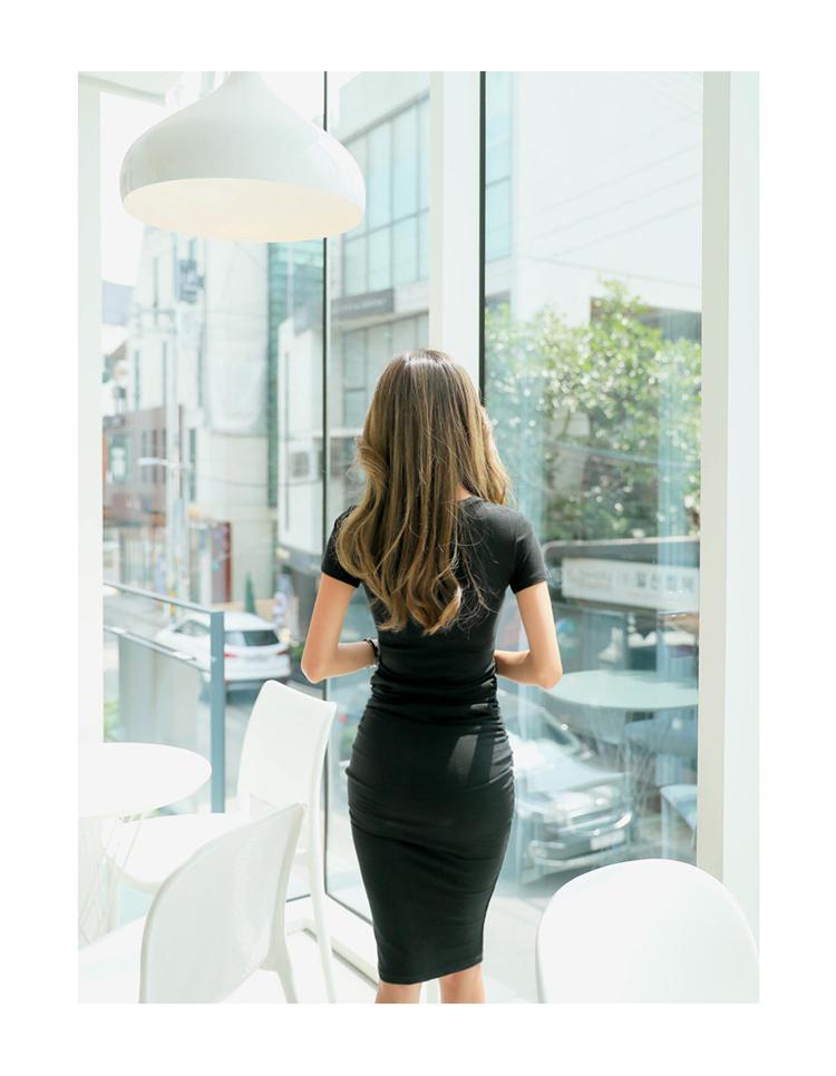 【即納】韓国 ファッション ワンピース 春 夏 カジュアル SPTXA748  リゾートワンピース ハワイ Tシャツ Tワンピ カットソー スポーティー ストリー オルチャン シンプル 定番 セレカジの写真9枚目