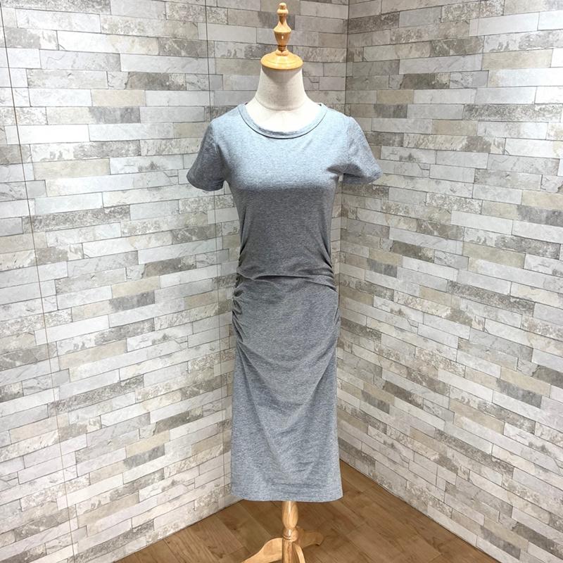 【即納】韓国 ファッション ワンピース 春 夏 カジュアル SPTXA748  リゾートワンピース ハワイ Tシャツ Tワンピ カットソー スポーティー ストリー オルチャン シンプル 定番 セレカジの写真10枚目