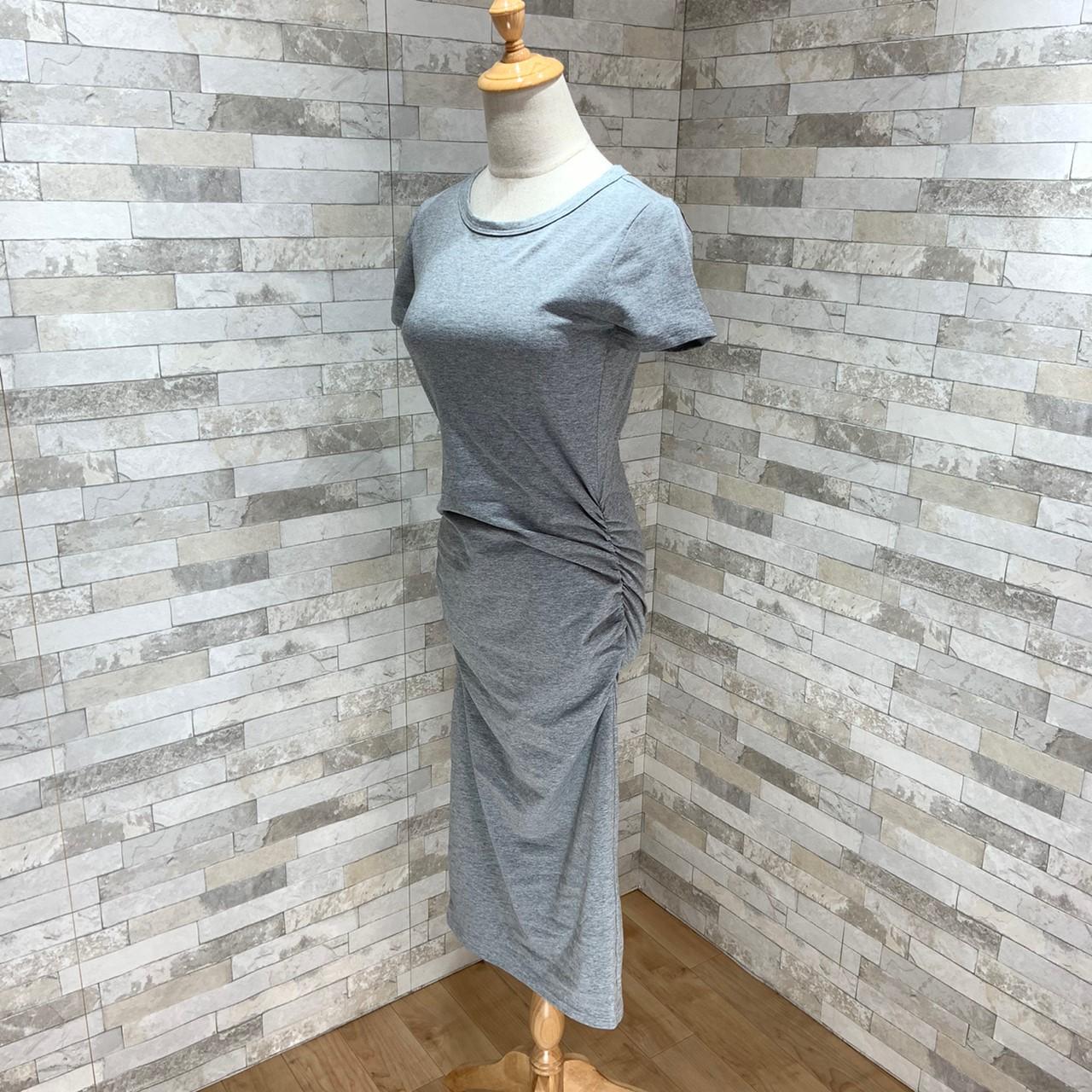 【即納】韓国 ファッション ワンピース 春 夏 カジュアル SPTXA748  リゾートワンピース ハワイ Tシャツ Tワンピ カットソー スポーティー ストリー オルチャン シンプル 定番 セレカジの写真11枚目