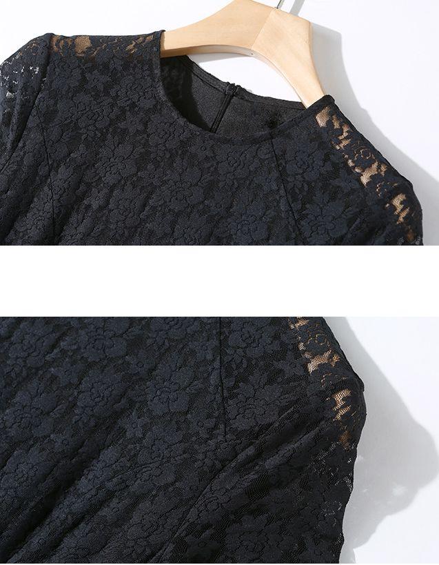 韓国 ファッション ワンピース パーティードレス ロング マキシ 春 夏 パーティー ブライダル PTXA825 結婚式 お呼ばれ レース シースルー マキシ丈 Aライン 二次会 セレブ きれいめの写真8枚目