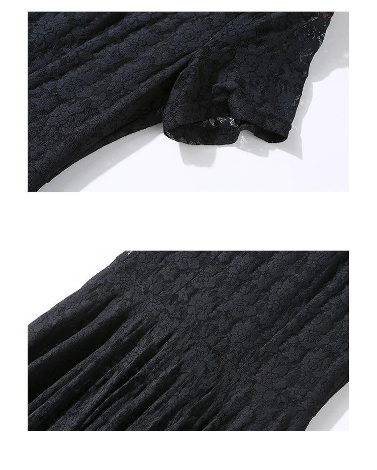 韓国 ファッション ワンピース パーティードレス ロング マキシ 春 夏 パーティー ブライダル PTXA825 結婚式 お呼ばれ レース シースルー マキシ丈 Aライン 二次会 セレブ きれいめの写真9枚目