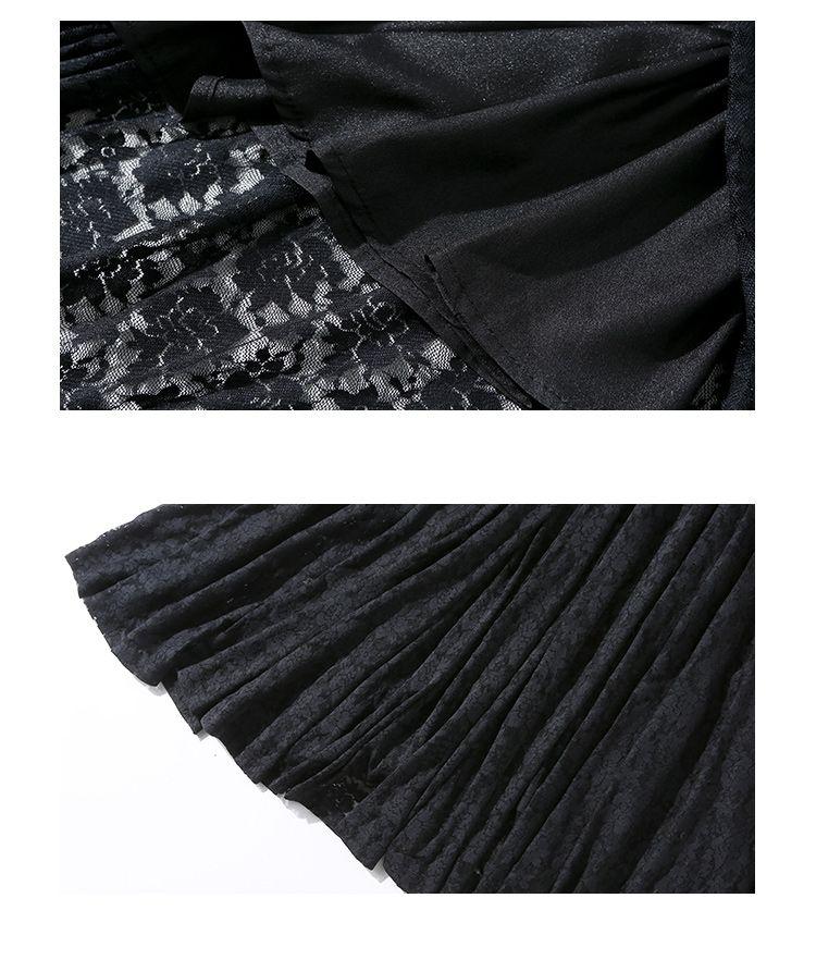 韓国 ファッション ワンピース パーティードレス ロング マキシ 春 夏 パーティー ブライダル PTXA825 結婚式 お呼ばれ レース シースルー マキシ丈 Aライン 二次会 セレブ きれいめの写真10枚目