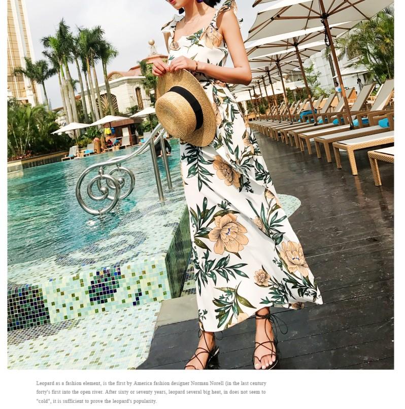 【即納】リゾートワンピース ロング マキシ ハワイ お出かけワンピ 春 夏 リゾート パーティー SPTXA838  マキシワンピース リゾートワンピース ハワイ フリル オルチャン セレブ セクシーの写真8枚目