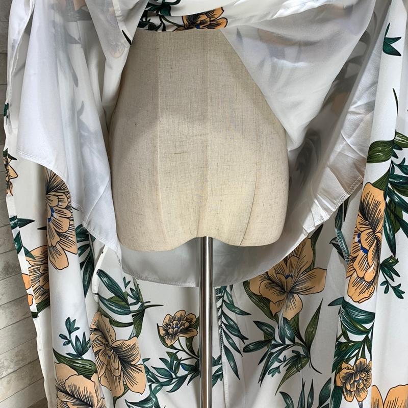 【即納】リゾートワンピース ロング マキシ ハワイ お出かけワンピ 春 夏 リゾート パーティー SPTXA838  マキシワンピース フリル カットオフ セパレート風  オルチャン セレブ セクシーの写真19枚目