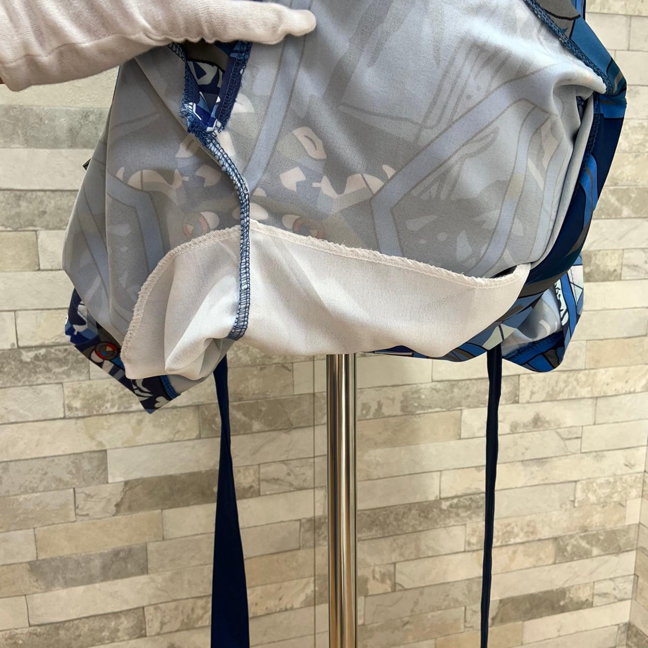 【即納】韓国 ファッション ワンピース パーティードレス ひざ丈 ミディアム 夏 春 パーティー ブライダル SPTXB517 結婚式 お呼ばれ ゴージャス レトロ スカーフ 二次会 セレブ きれいめの写真15枚目