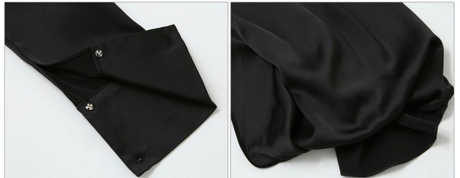 「華やかクールに」大胆深Vネックの大人ドレスシャツ 夏 春 PTXB613の写真10枚目