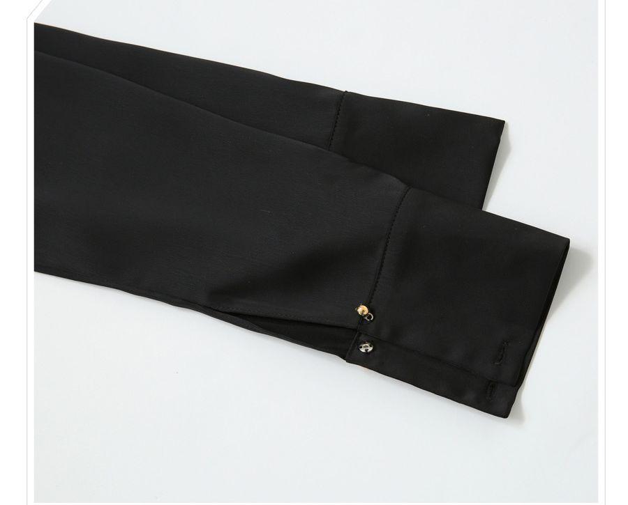 「華やかクールに」大胆深Vネックの大人ドレスシャツ 夏 春 PTXB613の写真16枚目