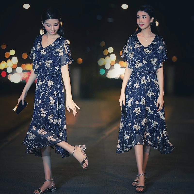 【即納】韓国 ファッション ワンピース 夏 春 カジュアル SPTXB696  マキシワンピース リゾートワンピース ハワイ ケープ風袖 スリット イレギュラーヘ オルチャン シンプル 定番 セレカジの写真2枚目