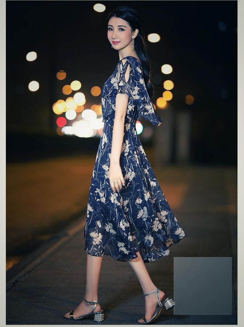 【即納】韓国 ファッション ワンピース 夏 春 カジュアル SPTXB696  マキシワンピース リゾートワンピース ハワイ ケープ風袖 スリット イレギュラーヘ オルチャン シンプル 定番 セレカジの写真7枚目