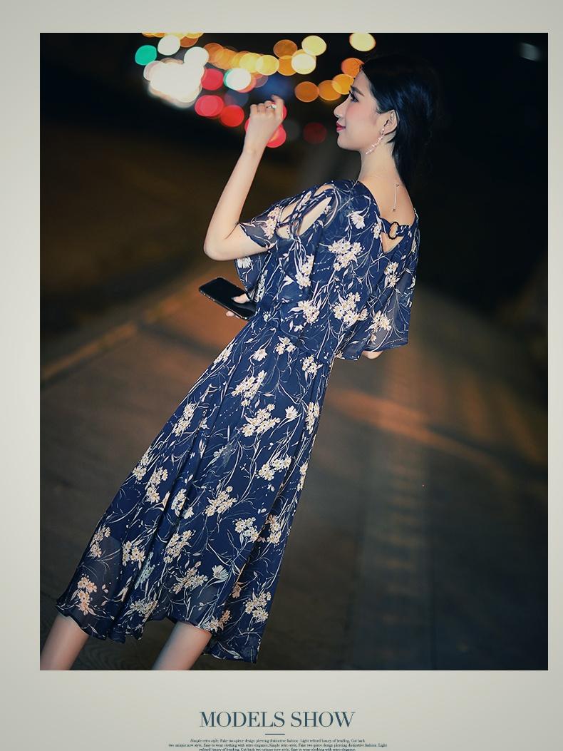 【即納】韓国 ファッション ワンピース 夏 春 カジュアル SPTXB696  マキシワンピース リゾートワンピース ハワイ ケープ風袖 スリット イレギュラーヘ オルチャン シンプル 定番 セレカジの写真9枚目