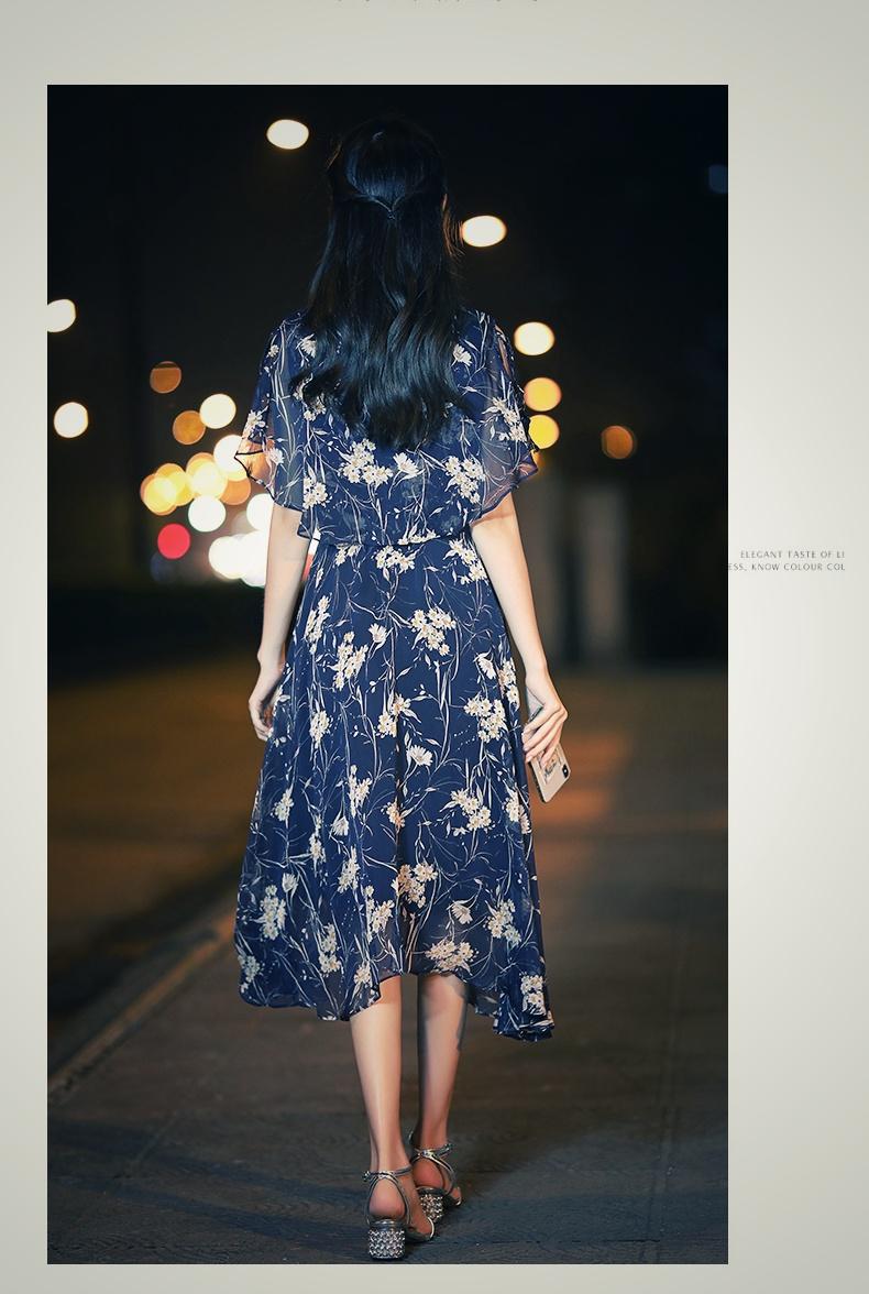 【即納】韓国 ファッション ワンピース 夏 春 カジュアル SPTXB696  マキシワンピース リゾートワンピース ハワイ ケープ風袖 スリット イレギュラーヘ オルチャン シンプル 定番 セレカジの写真10枚目