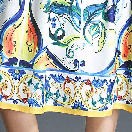 韓国 ファッション ワンピース パーティードレス ひざ丈 ミディアム 春 夏 パーティー ブライダル PTXB967 結婚式 お呼ばれ ノースリーブ ブロック柄 スカーフ柄  二次会 セレブ きれいめの写真3枚目