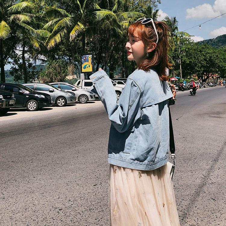 韓国 ファッション アウター ブルゾン 春 秋 冬 カジュアル PTXC258  デニム ジーンズ 古着風 ヴィンテージ風 Gジャン ジャンパー オルチャン シンプル 定番 セレカジの写真4枚目
