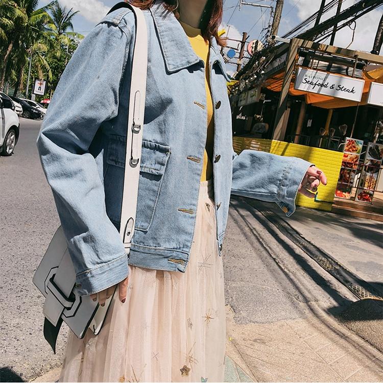 韓国 ファッション アウター ブルゾン 春 秋 冬 カジュアル PTXC258  デニム ジーンズ 古着風 ヴィンテージ風 Gジャン ジャンパー オルチャン シンプル 定番 セレカジの写真5枚目