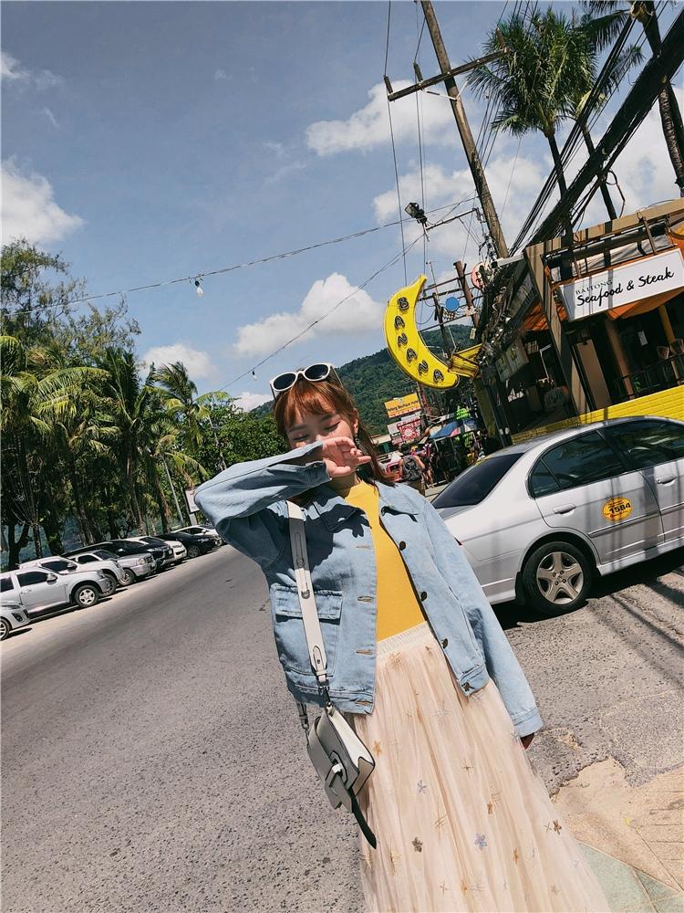 韓国 ファッション アウター ブルゾン 春 秋 冬 カジュアル PTXC258  デニム ジーンズ 古着風 ヴィンテージ風 Gジャン ジャンパー オルチャン シンプル 定番 セレカジの写真12枚目