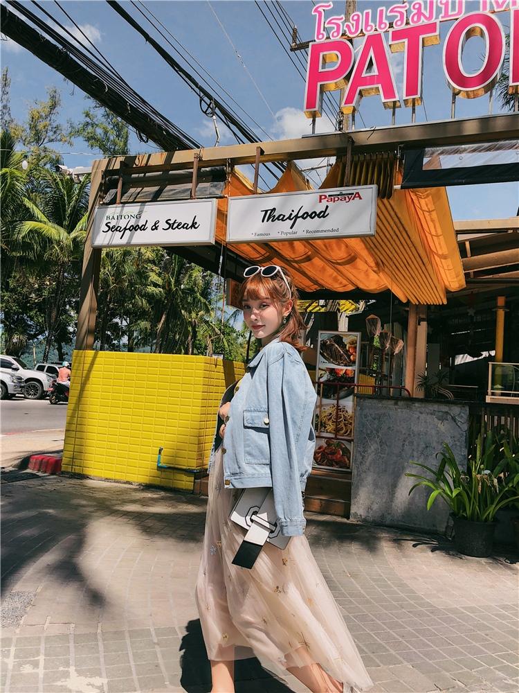 韓国 ファッション アウター ブルゾン 春 秋 冬 カジュアル PTXC258  デニム ジーンズ 古着風 ヴィンテージ風 Gジャン ジャンパー オルチャン シンプル 定番 セレカジの写真13枚目