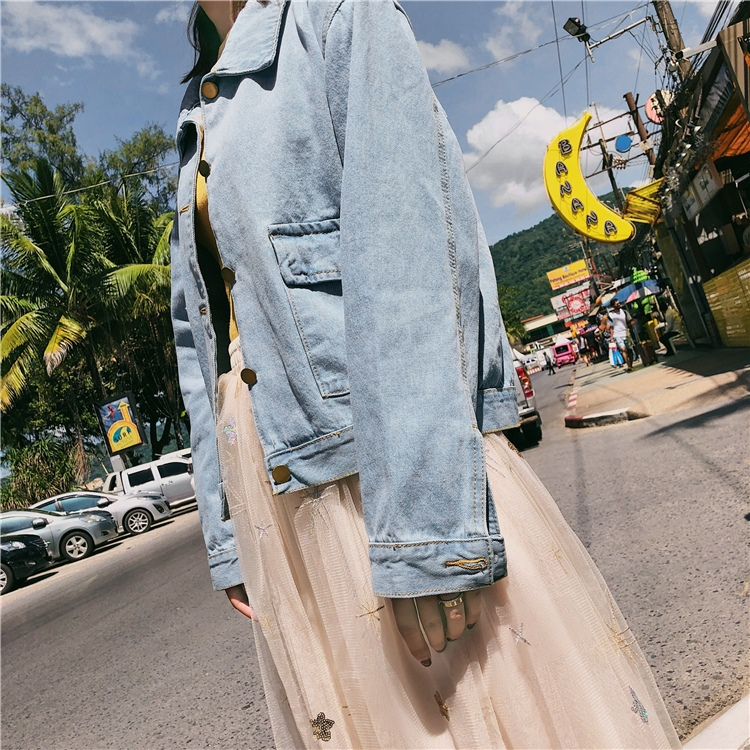韓国 ファッション アウター ブルゾン 春 秋 冬 カジュアル PTXC258  デニム ジーンズ 古着風 ヴィンテージ風 Gジャン ジャンパー オルチャン シンプル 定番 セレカジの写真16枚目