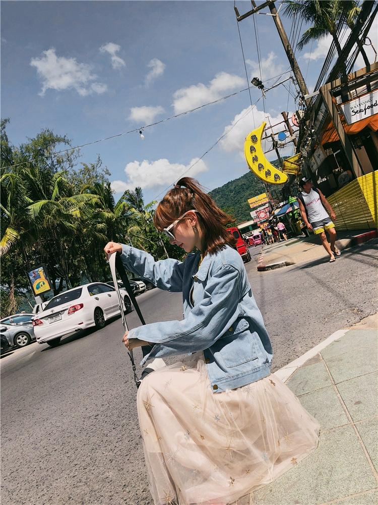 韓国 ファッション アウター ブルゾン 春 秋 冬 カジュアル PTXC258  デニム ジーンズ 古着風 ヴィンテージ風 Gジャン ジャンパー オルチャン シンプル 定番 セレカジの写真17枚目
