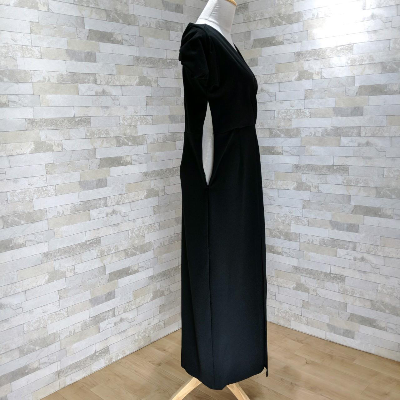 【即納】韓国 ファッション ワンピース パーティードレス ロング マキシ 秋 冬 パーティー ブライダル SPTXC523 結婚式 お呼ばれ ラップ ドレープ ウエストマーク 二次会 セレブ きれいめの写真16枚目